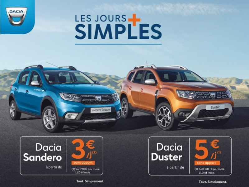 Les jours plus simples Dacia Groupe Thivolle