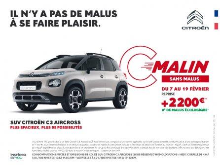 Les offres C'Malin chez Citroën !