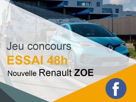 Jeu concours Facebook : Essai de la nouvelle Renault ZOE