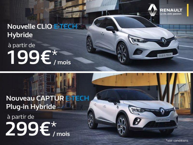 Clio et Captur Hybrides