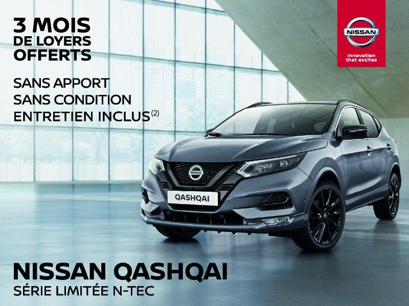 3 mois de loyers offerts sur le Nissan QASHQAI