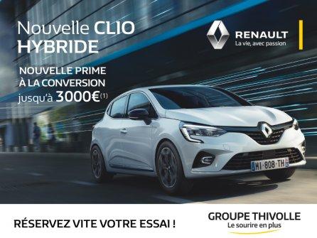 Essayez la nouvelle Renault Clio Hybride !