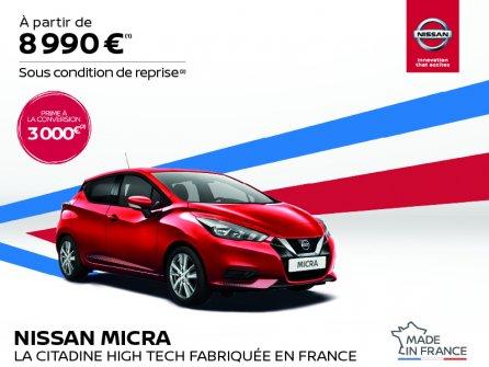 Nissan Micra à partir de 8 990 €