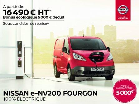 Nissan E-NV200 : Le fourgon 100% électrique