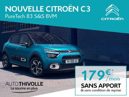 Nouvelle Citroën C3 à partir de 179€/mois