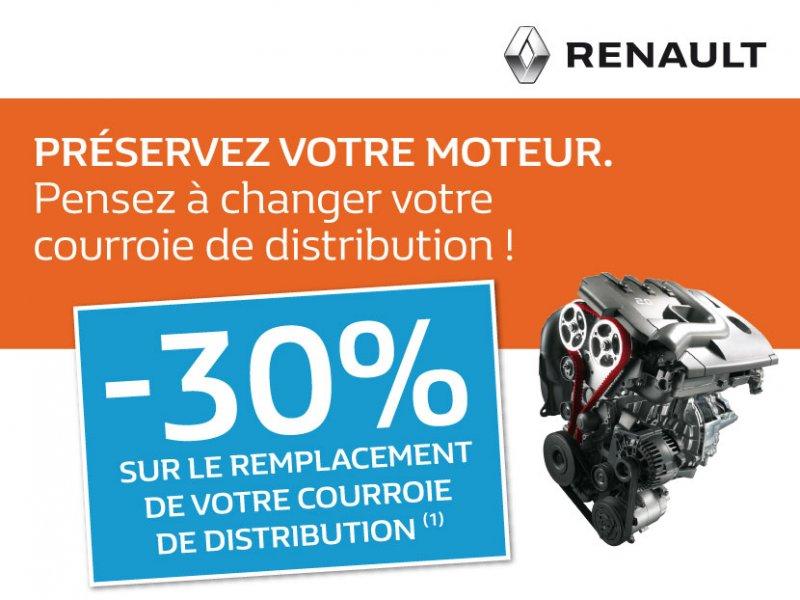 -30% sur le remplacement de votre courroie de distribution