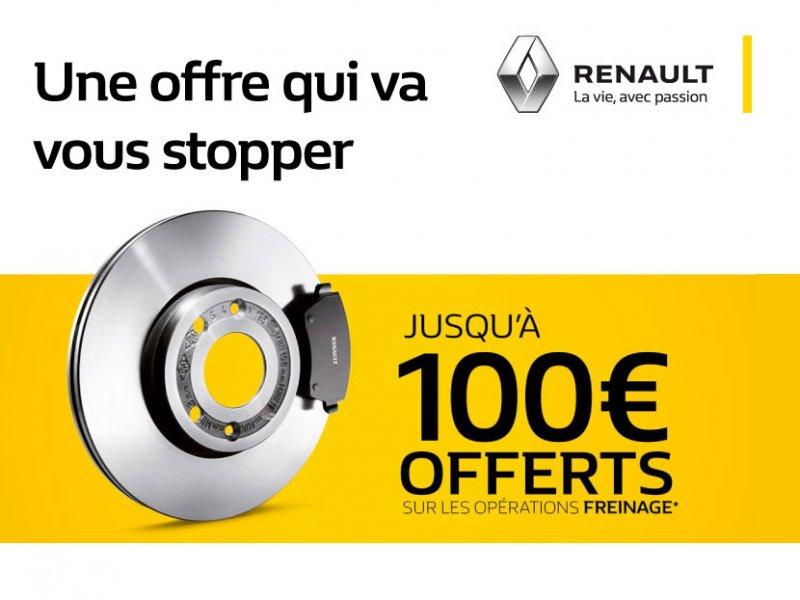 Jusqu'à 100€ offerts sur les opérations freinage