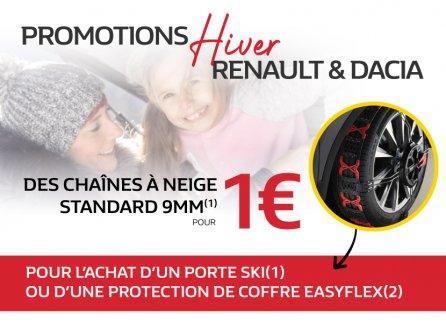 Promotions Hiver Renault & Dacia