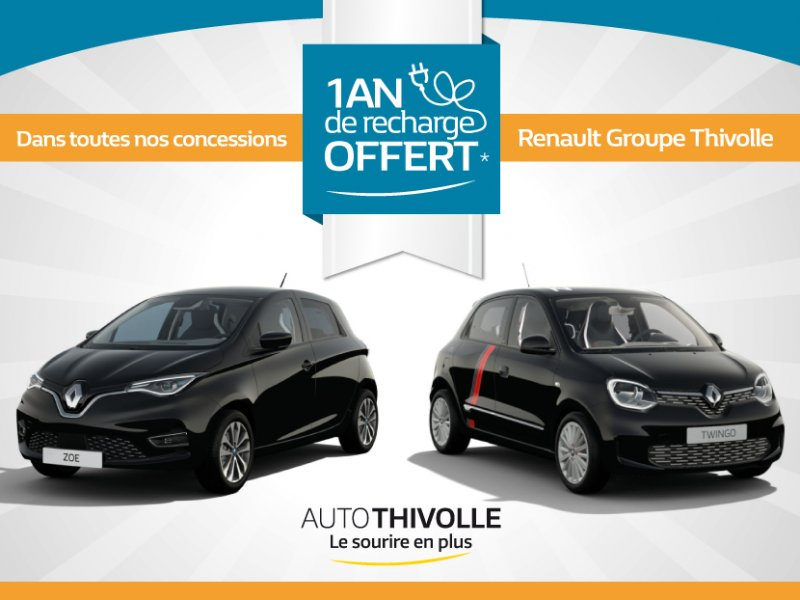 Renault Groupe Thivolle  vous offre 1 an de Recharge