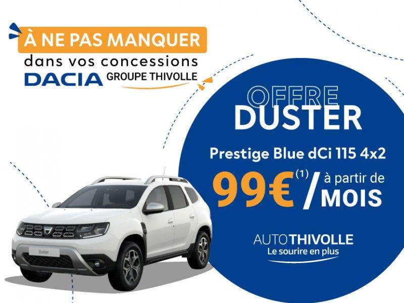 Offre Dacia Duster à partir de 99€/mois