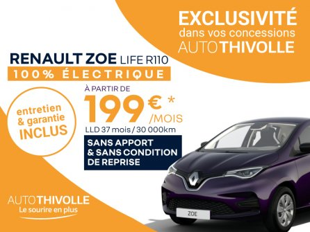 Renault ZOE Life R110 à partir de 199€/mois