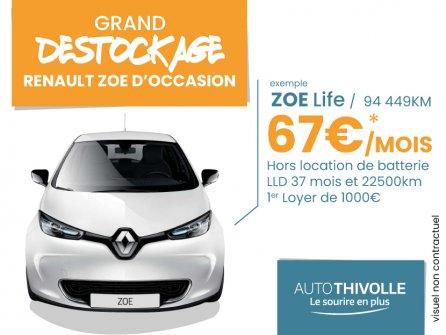 Destockage Renault ZOE Life d'occasion