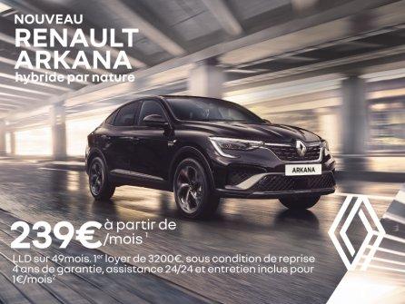 Renault ARKANA à partir de 239€/mois