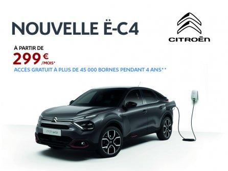 NOUVELLE Ë-C4  À partir de  299 € /mois