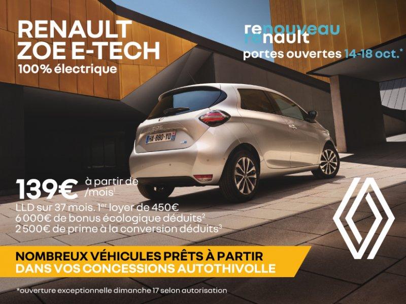 Renault ZOE E-TECH à partir de 139€/mois